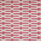 Annie Selke Links Fabric - I love the way this fabric is geometric and a bit exotic. It comes in a range of beautiful colors, but the bubble gum pink is the most fun hue in the bunch.