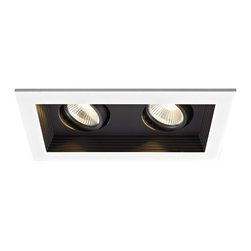 WAC Lighting - MT-3LD211NA 2-lt Mini LED Multiple Spot New Construction Housing and Trim - MT-3LD211NA 2-lt Mini LED Multiple Spot New Construction Housing and Trim