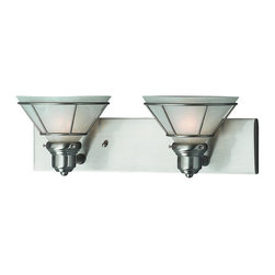Dolan Designs - Dolan Designs 632-09 Satin Nickel Bathroom Vanity LightCraftsman Collection - Dolan Designs 632-09 Craftsman 2 Light Bath Fixture This item by Dolan Designs is illuminated by two 100-watt frosted incandescent bulbs. Part of the Cr