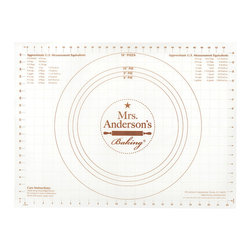 Harold Import Co. - Nonslip Pastry Mat - Make baking more convenient with this mat with printed measurements, sample circles and measurement conversions easily at hand. Dough doesn't stick, so it'll always be easy to use.   24'' W x 18'' H Silicone BPA-free Hand wash Imported