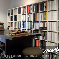 Martino Interiors Design Showroom |  Los Gatos - Our showrooms textile library contains upholstery fabrics, drapery fabrics and leather upholstery samples.