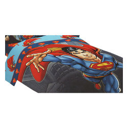 Franco Manufacturing Company INC - DC Comics Superman Twin Bed Comforter Prime Hero Bedding - FEATURES: