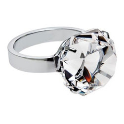 Godinger Rock Crystal Diamond Ring Paperweight - I have this paperweight on my desk. My dad gave it to me as a joke that I couldn't get married until I got a real one this size — ha! It's definitely a conversation piece.