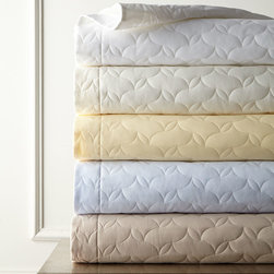 """SFERRA - Quilted Percale King Quilt 114"""" x 100"""" - WHITE (KING) - SFERRAQuilted Percale King Quilt 114"""" x 100""""DetailsEgyptian cotton.Machine wash.Made in Italy.Designer About Sferra:The story of Sferra begins at the turn of the 19th century when Gennaro Sferra left Italy for the United States in the hopes of finding a market among the Atlantic Coast for his intricate Venetian lace cuffs and collars. By 1912 he and his family had opened up shop on famed Fifth Avenue in New York City. A generation later Gennaro's two sons expanded their family's collection to include the most luxurious European linens of the day from renowned double damask from Ireland to Alençon laces from France to elaborate embroideries from Belgium and Switzerland. In 1977 the ownership of Sferra was sold by the family to Paul Hooker under whose keen business savvy and passionate stewardship this classic brand has flourished over the years. With the aid of great advancements in design and production techniques Sferra has secured its rightful position as a leader in the luxury linens industry. Above all the secret to the enduring reputation of the Sferra brand is the same now as it was a century ago only the finest materials are used in any product bearing the Sferra name."""