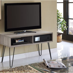 Altra - Owen Retro TV Stand - Simplify your TV room with the attractive,designer look of this retro TV stand from Altra Furniture. Perfect for a variety of interiors,clean lines and straight edges give the stand its contemporary profile.