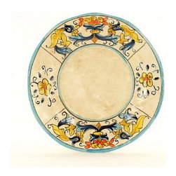 Artistica - Hand Made in Italy - Rinascimento: Salad/Dessert Plate - The Rinascimento is an exclusive design for Artistica by the Umbrian renown artist Rale of Opera Nova.