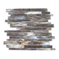 "GlassTileStore - Matchstix Mudslide Glass Tile - Matchstix MudSlide Glass Tile             This stunning mosaic is handcrafted in stained glass. With the mixture of white, brown and gray this glass tile will give a luminescent quality to any bathroom, kitchen or pool installation. Add a pop to any room with these beautiful tiles that are versatile.         Chip Size: Random   Color: Shades of White, Brown and Gray   Material: Glass   Finish: Stained   Sold by the Sheet- each sheet measures 10 1/2"" x 10 3/4"" (0.78 sq. ft.)   Thickness: 1/8""   Please note each lot will vary from the next.            - Glass Tile -"