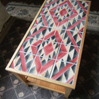 Navajo Rug Design Tile Coffee Table -