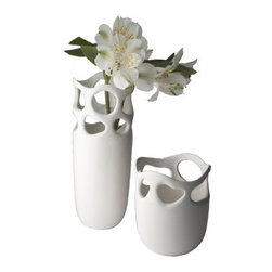 Lazy Susan - Perforated Bud Vase - Could this vase be any cuter? Perfect for single flowers, a few billy balls or a small cluster of flowers. It's small size makes it the perfect accent piece that will fit anywhere!