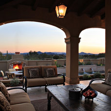 Eclectic Patio by Schwab Luxury Homes and Interiors