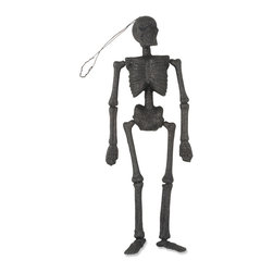 Bethany Lowe Designs - Glittered Skeleton Ornament - The basic structural element of Halloween d̩cor, your display simply won't stand without this classic skeleton. �� 16'' H Paper pulp Imported