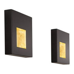 "Icone Luce - Icone Luce Riflessi AP wall lamp - The Riflessi AP wall lamp from Icone Luce was designed by Marco Pagnoncelli in 2009. This contemporary wall lamp made in Italy is a diffused wall lightconsisting of metal. The fixture has a low-consumption indirect upper light source and a LED light sources within the gold and silver leaf fissures. Illumination is provided by one TC-T/E GX24Q, 1 X 42W halogen or 1 x 1wW LED (not included).      Product Details:  The Riflessi AP wall lamp from Icone Luce was designed by Marco Pagnoncelli in 2009 This contemporary wall lamp made in Italy is a diffused wall lightconsisting of metal. The fixture has a low-consumption indirect upper light source and a LED light sources within the gold and silver leaf fissures. Illumination is provided by one TC-T/E GX24Q, 1 X 42W halogen or 1 x 1wW LED (not included).  Details:     Manufacturer: Icone Luce   Designer: Marco Pagnoncelli   Made in: Italy   Dimensions:  Small: Riflessi 35: Height: 11.8""(35cm) X Length: 15.7""(35cm) X Width: 11""(7cm)  Medium: Riflessi 70: Height: 11.8""(25cm) X Length: 15.7""(70cm) X Width: 11""(7cm)  Large: Riflessi 160: Height: 11.8""(25cm) X Length: 15.7""(160cm) X Width: 17.7""(8.5cm)     Light bulb:  Small: Riflessi 35:TC-T/E GX24Q, 1 X 42W halogen or 1 x 1wW LED (not included)  Medium: Riflessi 70: T5 G5, 1 X 24W halogen or 3 x 1wW LED (not included)  Large: Riflessi 160:T5 G5, 1 X 80W halogen or 5 x 1wW LED (not included)     Material: Metal"