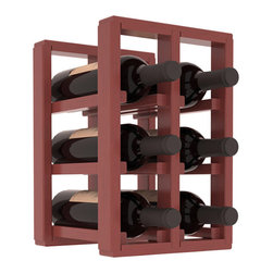 Wine Racks America® - 6 Bottle Counter Top/Pantry Wine Rack in Pine, Cherry Stain + Satin Finish - These counter top wine racks are ideal for any pantry or kitchen setting.  These wine racks are also great for maximizing odd-sized/unused storage space.  They are available in furniture grade Ponderosa Pine, or Premium Redwood along with optional 6 stains and satin finish.  With 1-10 columns available, these racks will accommodate most any space!!