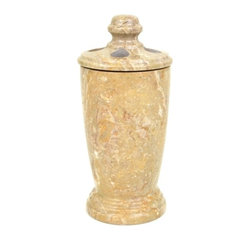 Nature Home Decor - Toothbrush Holder, Sahara Beige Marble - Sahara Beige Marble is one of the most popular marble for use in bathrooms and these bathroom accessories are perfect compliments to any bath decor. Designed and produced exclusively for Nature Home decor, these bath accessories are available individually for collection at your leisure, or you may elect to purchase the complete set in our other listing.