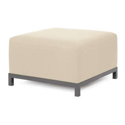 Howard Elliott Sterling Sand Axis Ottoman Slipcover - Ready to wear! Wouldn't it be fun to change your Axis Sectional on a whim? Now you can! with a Sterling Axis Cover, tailored construction and Velcro fasteners make it so that you would never know these pieces are slipcovered. This provides for easy cleaning and quick updating. Get a whole new look with the rich linen-like texture of the Sterling Axis Slipcover and its selection of bold, vibrant colors!!