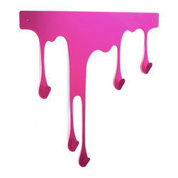 Inova Team -Modern Drop Coat Rack, Pink - Drop L is a self-adhesive wall hook that offers you an innovative solution.