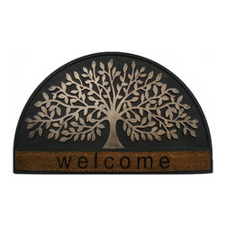 A1 Home Collections - SHREDDING LEAF Designer Doormat - This mat is made of durable, eco-friendly coir with rubber for an elegant effect, this chic mat is A1 exclusive and makes any entrance a grand entrance. For use indoors or in covered outdoor areas, this mat has a rubber backing to keep it positioned perfectly.