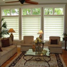 Eclectic Roman Shades by Budget Blinds of the Crow River Area