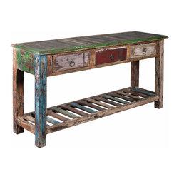Coast To Coast Furniture - Reclaimed Wood Sofa Table 3 Drawer - 39515 - Reclaimed Wood Sofa Table 3 Drawer