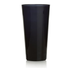 Morelia Cordial Glass - Inky black glass cuts a slim silhouette, perfectly sized for shots of tequila or petite pours of sweet cordials.