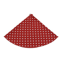 Chooty & Co. - Chooty and Co Ikat Dot Tree Skirt Multicolor - TS513158 - Shop for Holiday Ornaments and Decor from Hayneedle.com! A modern classic the Chooty and Co Ikat Dot Tree Skirt adds style to your Christmas tree. This tree skirt features a festive red background with stylish Ikat dots in winter white. This round 53-inch diameter tree skirt is made of 100% cotton. It should be hand- or spot-cleaned to keep its beauty.About Chooty & Co.A lifelong dream of running a textile manufacturing business came to life in 2009 for Connie Garrett of Chooty & Co. This achievement was kicked off in September of '09 with the purchase of Blanket Barons well known for their imported soft as mink baby blankets and equally alluring adult coverlets. Chooty's busy manufacturing facility located in Council Bluffs Iowa utilizes a talented team to offer the blankets in many new fashion-forward patterns and solids. They've also added hundreds of Made in the USA textile products including accent pillows table linens shower curtains duvet sets window curtains and pet beds. Chooty & Co. operates on one simple principle: What is best for our customer is also best for our company.