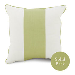 "18"" x 18"" Band Pillow, Spring Green"