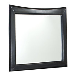 Standard Furniture - Standard Furniture Memphis Rectangular Mirror in Sleek Black - Polished and upscale with its sweeping modern lines and sleek black paint finish, Memphis conveys an air of urban architectural drama.