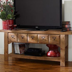 Ridgely Media Console, Heirloom Pine finish