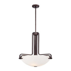 Metropolitan - Metropolitan N6623-590 Industrial 3 Light Industrial Bronze Bowl Pendant - Features:
