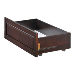 Night And Day Furniture - Drawer Set 2 Drawers For Twin Or Full K Series Beds Chocolate - Our under-bed storage drawers are the perfect way to add storage space without taking up any additional space in your room. Drawers sre on casters and roll easily right on your floor.