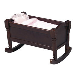 Guidecraft - Guidecraft Espresso Doll Cradle - Guidecraft - Doll Furniture - G98113 - Our heirloom-quality Doll Furniture Collection is the perfect play-time ensemble. Rock your baby doll to sleep in the beauty and comfort of our doll cradle. Made of hardwood solids each piece is available in both natural and espresso finishes.