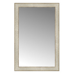"Posters 2 Prints, LLC - 18"" x 27"" Libretto Antique Silver Custom Framed Mirror - 18"" x 27"" Custom Framed Mirror made by Posters 2 Prints. Standard glass with unrivaled selection of crafted mirror frames.  Protected with category II safety backing to keep glass fragments together should the mirror be accidentally broken.  Safe arrival guaranteed.  Made in the United States of America"