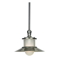 Quoizel - Quoizel Brushed Nickel Mini Pendants - SKU: NA1510BN - This style gives a nod to timeless style of the magnificent ocean liners of the 1920s and 1930s, but is updated for the homes of today. A handsome classic that is always in fashion.