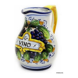 Artistica - Hand Made in Italy - Chianti: Classic ''Vino'' Pitcher 1 Liter - Vino, of course, is the Italian word for wine.