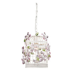 Sterling Industries - Sterling Industries 122-008 1 Light Foyer Cage Pendant - Features: