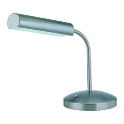 Lite Source - Polished Steel 1 Light Fluorescent Desk Lamp from the Broden Collection - Lite Source LS-20925 Broden Fluorescent Desk Lamp This product from Lite Source comes in a polished steel finish. Works with one 18-watt compact fluores