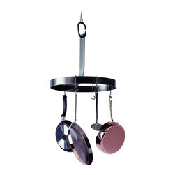 "Enclume - Enclume ""J"" Rack Pot Rack - Don't run around in circles looking for your pots and pans. This simple round rack controls cookware clutter and keeps everything you need right at your fingertips."