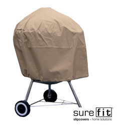 Sure Fit - Sure Fit Kettle Grill Cover - Effectively protect your high-end grill all year long with this kettle grill cover by Sure Fit. Constructed out of premium-quality polyester for long-lasting durability, this heavy-duty cover successfully withstands cracking, tearing, mold, and fading.