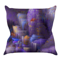 "Kess InHouse - Michael Sussna ""Purple Mountain Majesty"" Purple Throw Pillow (20"" x 20"") - Rest among the art you love. Transform your hang out room into a hip gallery, that's also comfortable. With this pillow you can create an environment that reflects your unique style. It's amazing what a throw pillow can do to complete a room. (Kess InHouse is not responsible for pillow fighting that may occur as the result of creative stimulation)."
