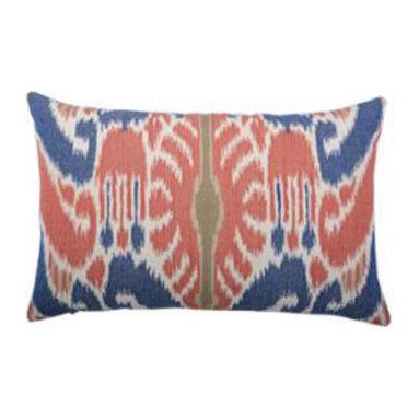 "New Elaine Smith Pillows - Buenos Aires Hacienda Ikat Lumbar - 12"" x 19"" Elaine Smith Pillows"