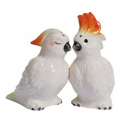 WL - 3.75 Inch Kitchenware Cockatoos Decorated Salt and Pepper Shakers - This gorgeous 3.75 Inch Kitchenware Cockatoos Decorated Salt and Pepper Shakers has the finest details and highest quality you will find anywhere! 3.75 Inch Kitchenware Cockatoos Decorated Salt and Pepper Shakers is truly remarkable.
