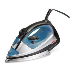 Hamilton Beach - Steam Iron Silver - This professional iron from Hamilton Beach features three-way auto shutoff, Stainless Steel soul plate, spray/blast, adjustable steam and On/Off light.