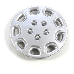 None - Chrome/Silver 14-Inch ABS Hub Caps (Set of Four) - Give your vehicle a makeover with this set of four chrome hubcaps. These silver hubcaps are made of ABS plastic and fit a majority of vehicles with 14-inch wheels, offering you an eye-catching, long-lasting upgrade to your automobile.