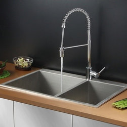 Ruvati - Ruvati RVC2401 Stainless Steel Kitchen Sink and Chrome Faucet Set - Ruvati sink and faucet combos are designed with you in mind. We have packaged one of our premium 16 gauge stainless steel sinks with one of our luxury faucets to give you the perfect combination of form and function.