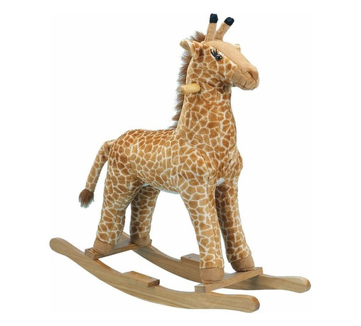 Charm Co. - Jacky Giraffe Rocker - Rocking toys add charm to your circus or jungle-themed nursery or kids room and also provide hours of fun! Suitable for children 3 years and older. Charm Co. is America's leading supplier of battery-operated motion toys. With a large selection and a higher quality standard than its competitors, you're sure to find the perfect safe, sturdy, adorable rocking toy for your space. With the trend towards specialty and themed retailing, these pedal cars, rockers, and ride on toys are now seen running, barking, jumping and oinking, all to your little one's delight!