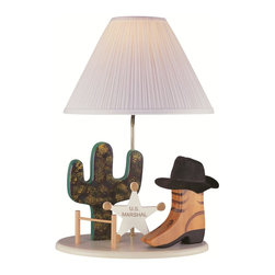 Lite Source - Beige Children / Kids Table Lamp from the Lite Source Kids Collection - Lite Source 3CB20106 Cowboy Lamp This product by Lite Source requires one 100-watt frosted incandescent bulb. Cowboy LampBringing out the Old West is