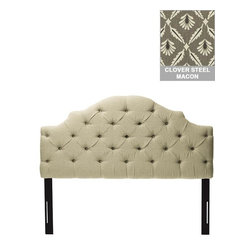 Home Decorators Collection - Custom Addison Upholstered Headboard - The elegantly scalloped profile of our Custom Addison Upholstered Headboard is enhanced by handcrafted diamond tufting. This custom upholstered headboard is available in your choice of gorgeous fabric. Create a sophisticated look that shows off your personality with this fabric headboard. Includes diamond tufting. Includes hardware to attach to most standard bed frames. Assembled to order in the USA and delivered in 4-6 weeks. Spot clean only.