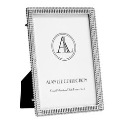 Alan Lee Collection - Princess Collection Simple 5X7 Picture Frame - This 5 x 7 photo frame will enhance any piece of art you put in it. Stainless steel with hand applied cut crystal accents make this frame stand out from the rest. Simple and classic.