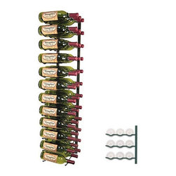 VintageView - VintageView 36-Bottle Wall Mounted Wine Storage Rack - WS43-P - Shop for Wine Bottle Holders and Racks from Hayneedle.com! The VintageView 36-Bottle Wall Mounted Storage Rack will display your favorite wines right up against the wall. This storage rack is made of metal and comes in two popular finishes: black and nickel. This wine rack can store up to 36 bottles of wine with full view of the bottle labels so you can easily find a particular bottle. This wine rack provides perfect airflow between bottles. Modular in design this wine rack will work in virtually any space. Parts come fully assembled which makes for easy installation - all you'll need to do is mount it to the wall! About Wine Master Cellars for VintageViewWine Master Cellars manufactures and sells wine storage and display systems that combine quality craftsmanship and an innovative aesthetically pleasing design. In 2001 company owner Doug McCain created the patented VintageView label-forward wine racking display system and it has since become one of fastest growing metal modular systems in the United States. Wine Master Cellars products are used in homes wine stores hotels grocery stores bars and restaurants around the world. The company has an office and showroom in Denver Colorado and prides itself in helping its customers create the wine cellar of their dreams.