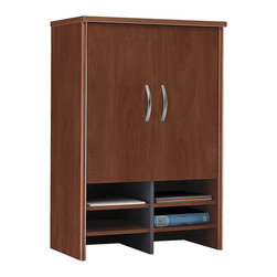 """BBF - BBF Series C 30W Hutch - BBF - Hutch - WC24497 - Create a complete workstation and stay organized by adding the BBF 30""""W Hutch to your Series C office set up. Sits on top of BBF 30"""" Storage Cabinet and provides additional space to stow anything. Perfect for everything from private offices to workstations. Two adjustable shelves in concealed area provide storage flexibility and help keep office environments free of clutter. Six additional spaces make short work of in-progress tasks or supplies. A stylish and practical storage solution. Solid construction meets ANSI/BIFMA test standards in place at time of manufacture; this product is American Made and is backed by BBF 10-Year Warranty."""